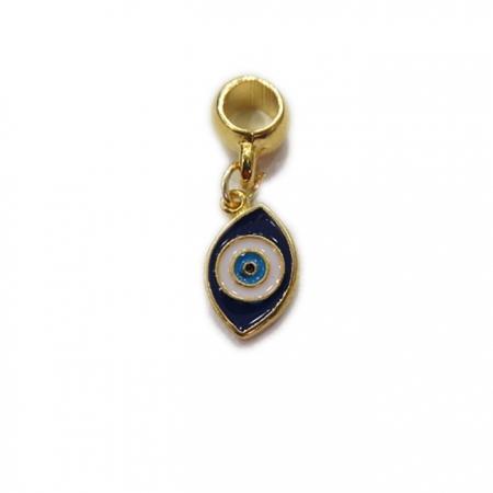 Berloque Dourado Olho Grego Puxado BED006