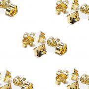 Tarracha Borboleta dourada (20 pares)- TBAD001