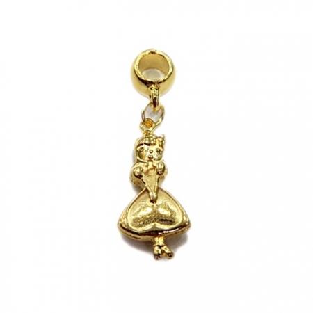 Berloque Dourado Alice BED008