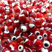 Olho grego vermelho Nº 08 (1.000 unidades)- OG031 ATACADO