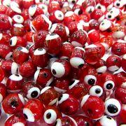 Olho grego vermelho Nº 10 (1.000 unidades)- OG050 ATACADO