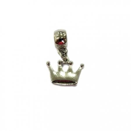 Berloque Niquel Pingente Coroa Lisa  BEN027