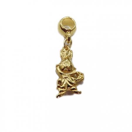Berloque Dourado Coelho da Alice ( Niquel e Dourado) - BED042