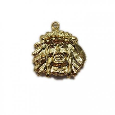Pingente Índio Dourado- PTD008