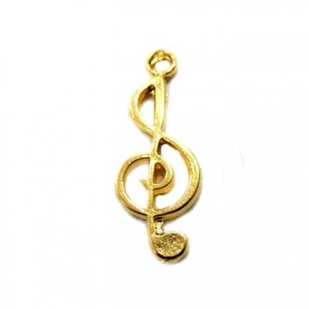 Pingente Nota musical dourada- PTD009