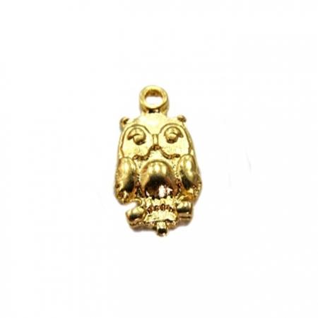 Pingente Coruja dourada peq. (01Pç) - PT015