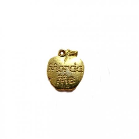 Pingente Maça dourada-PTD021