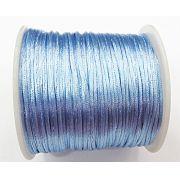 Cordão De Seda Fino Azul Bebe (1mm ) - FSF015