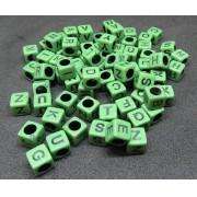 Cubinho De Letras Verde C/ Preto M (Atacado e Varejo) - COP016