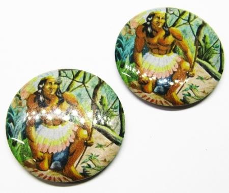 Medalha Acrilica Resinada Orixa Oxossi - PFO161