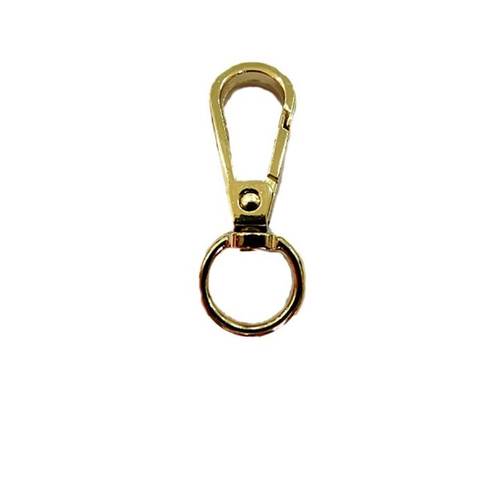 Mosquetão dourado I 100 peças - MD002 ATACADO