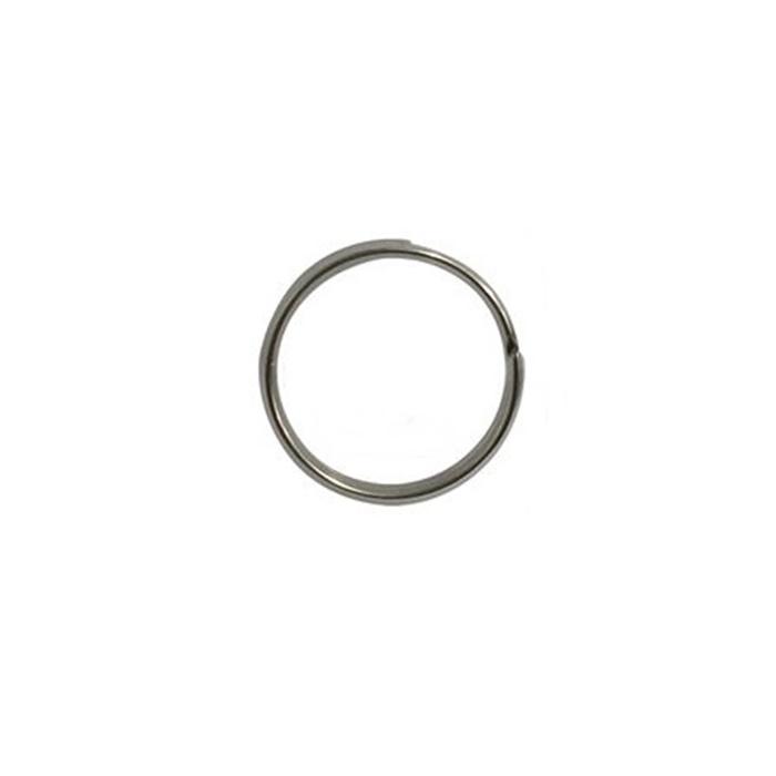 Argola de chaveiro lisa níquel s/ corrente (20 unidades)- ARN003