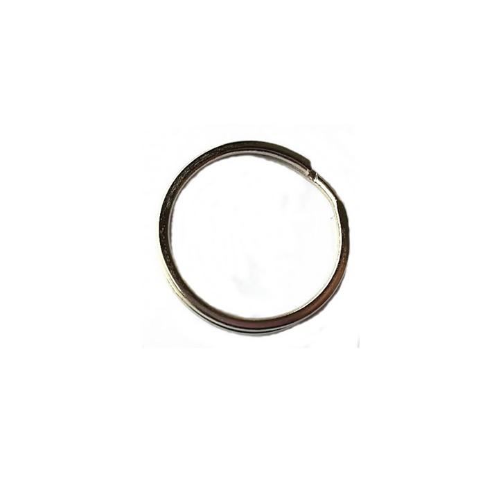 Argola de chaveiro lisa achatada níquel-3,0 cm -(20 unidades)- ARN004