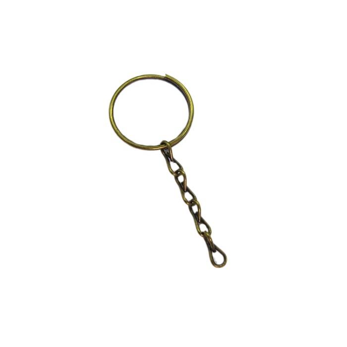 5089b5fe0ee41 Argola de chaveiro ouro velho lisa com corrente (Pct 50 unidades) - ARO003