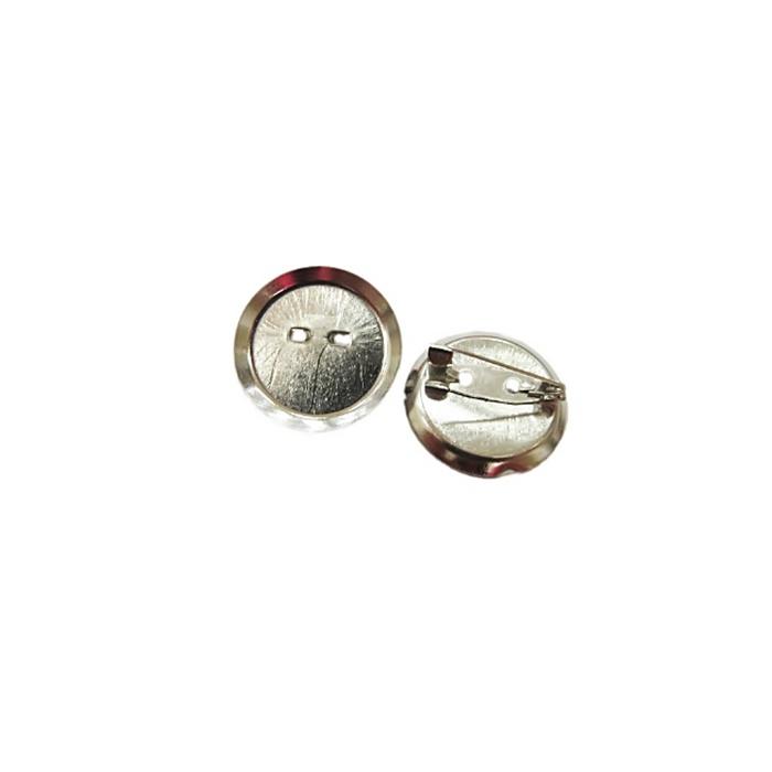 Base de broche pequena concava níquel 20MM (30 peças) - BRN001