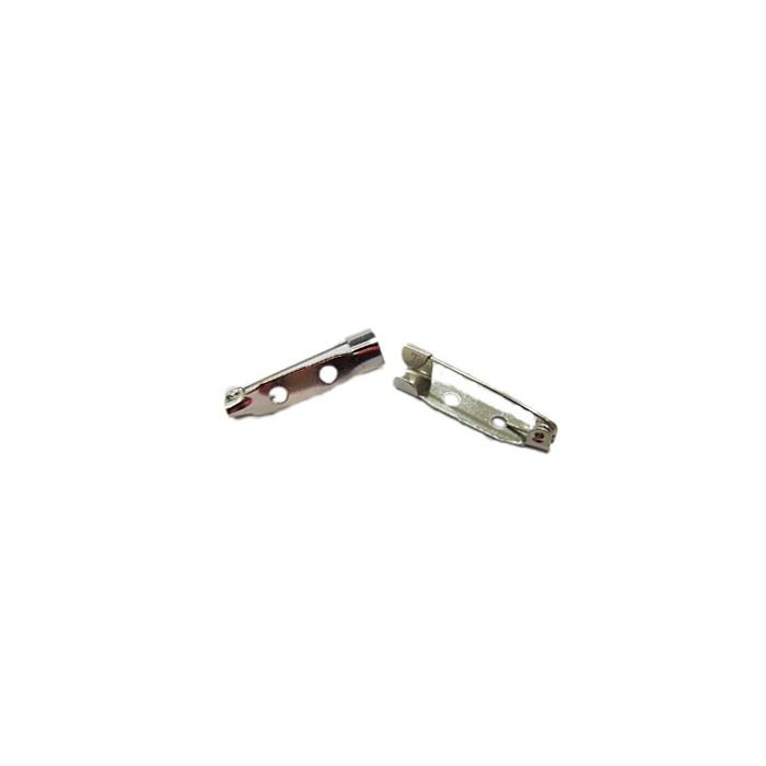 Base de Broche níquel 2cm (50 peças) - BRN007