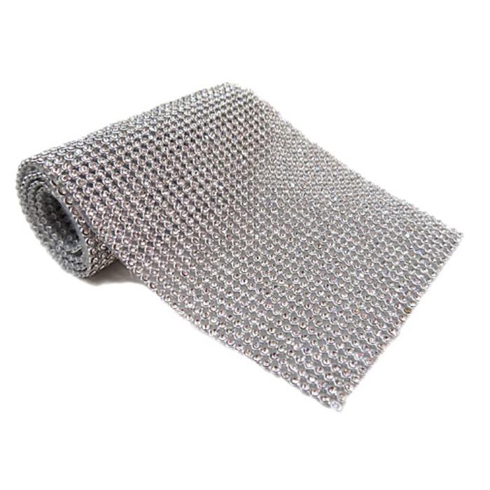 Manta de strass níquel 45x10cm - MS002
