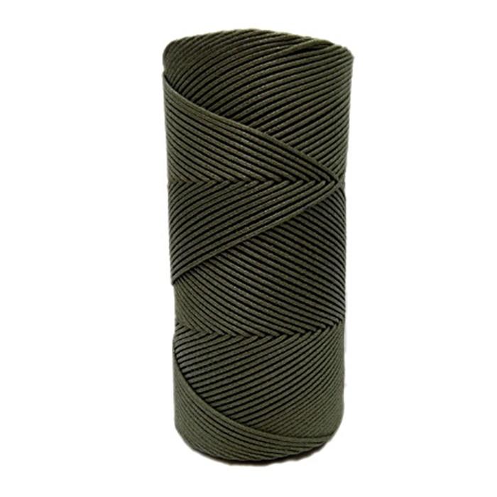 Cordão encerado fino musgo (5953)- CDF001 ATACADO