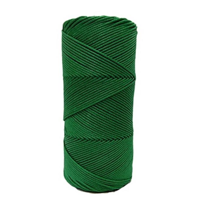 Cordão encerado fino Verde bandeira (5959)- CDF002 ATACADO