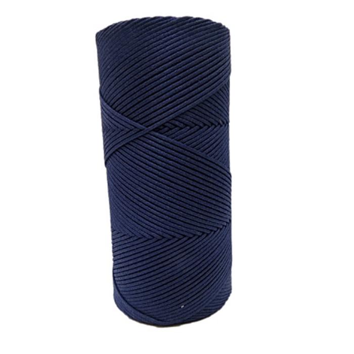Cordão encerado fino azul marinho (4647)- CDF006 ATACADO
