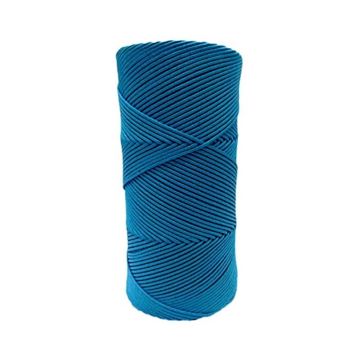Cordão encerado fino turquesa forte (4634)- CDF008 ATACADO