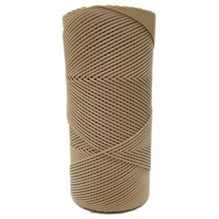 Cordão encerado fino mel 100 Metros (0082)- CDF018 ATACADO