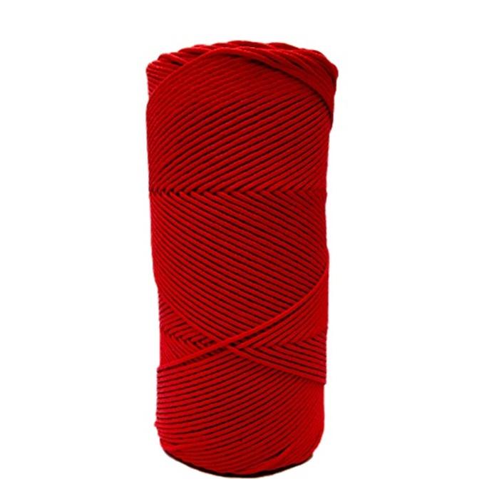 Cordão encerado fino vermelho  (7716) 10mts- CDF025
