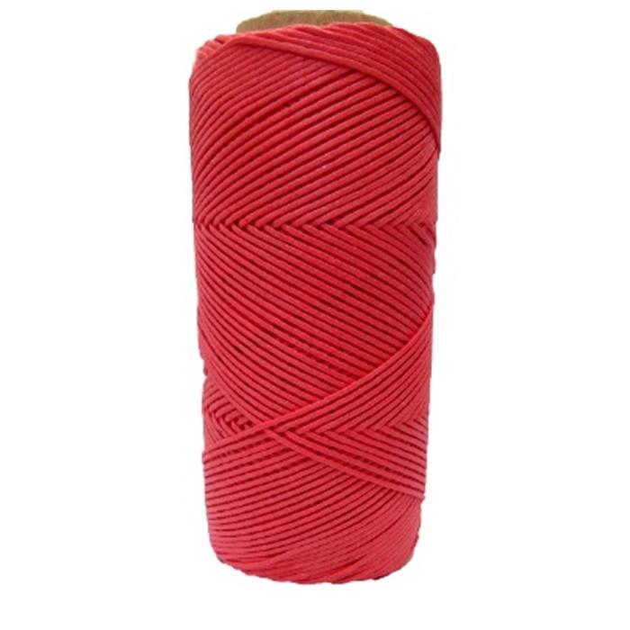 Cordão encerado fino goiaba (7723) 10mts- CDF026