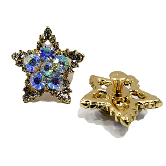 Piercing Estrela Dourada Boreal (Par)- PID001