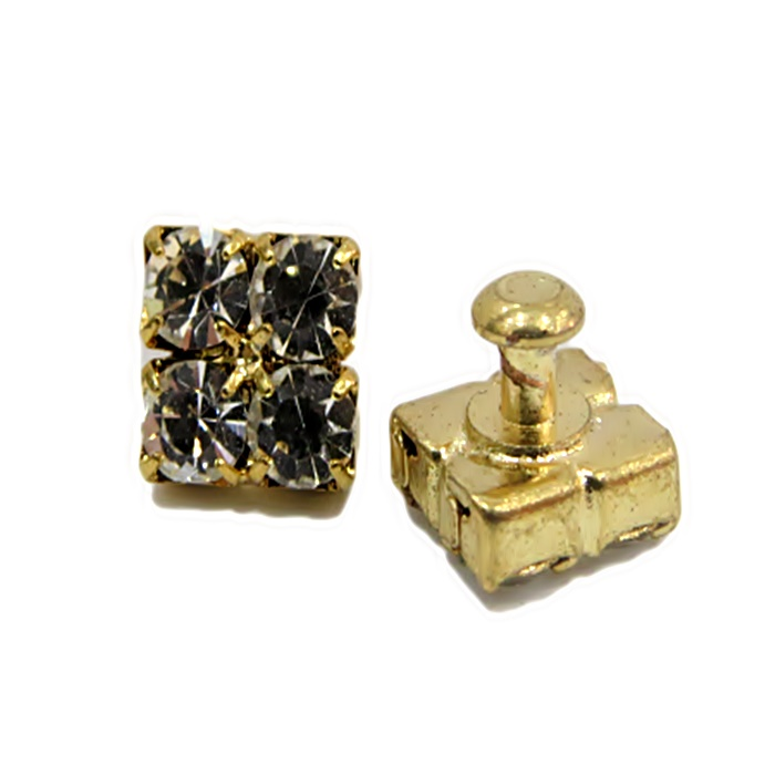 Piercing Quadradinho dourado (Par)- PID037