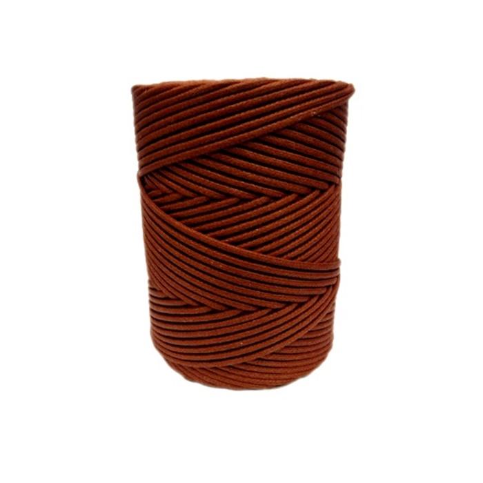 Cordão encerado grosso conhaque (2079)- CDG009 ATACADO