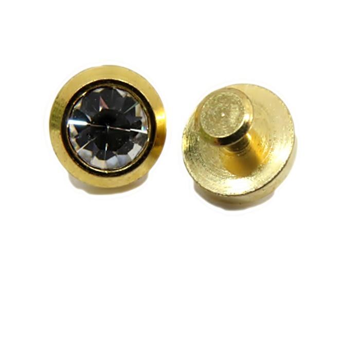 Piercing Ponto de luz pequeno dourado (par)- PID036