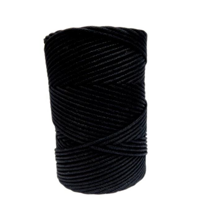 Cordão encerado grosso preto (9989)- CDG014 ATACADO