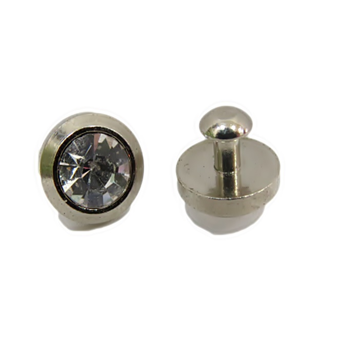 Piercing Ponto de luz pequeno níquel (par)- PIN021
