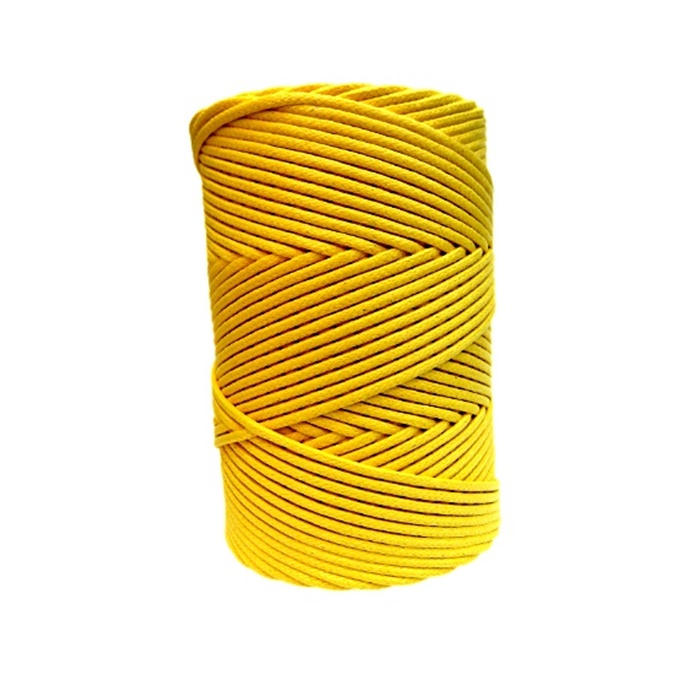 Cordão encerado grosso ouro (3318)- CDG024 ATACADO