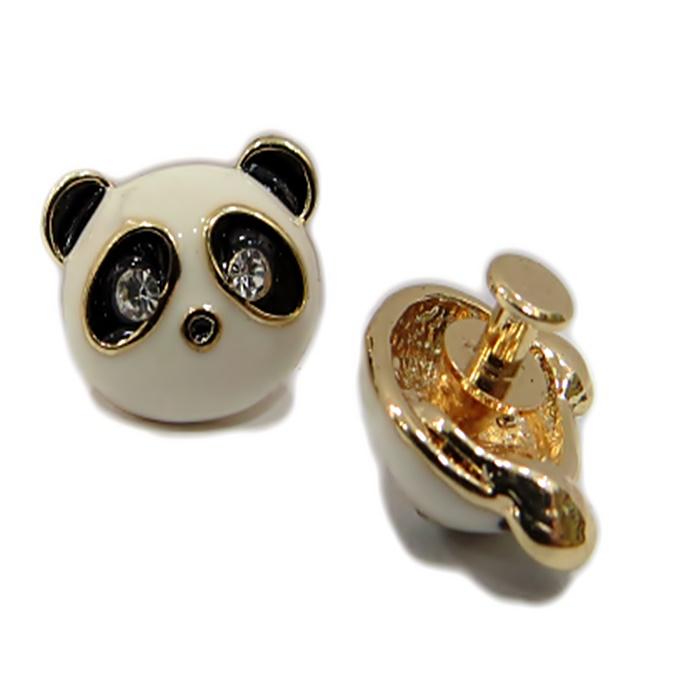 Piercing Panda de resina (par)- PID030