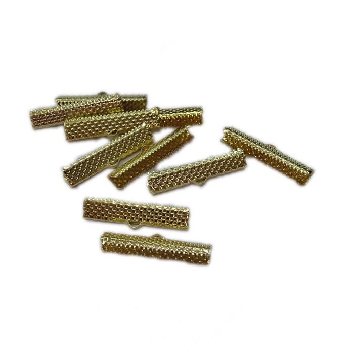 Terminal de garrinha Dourado 20mm (50 unid.)-TGD004