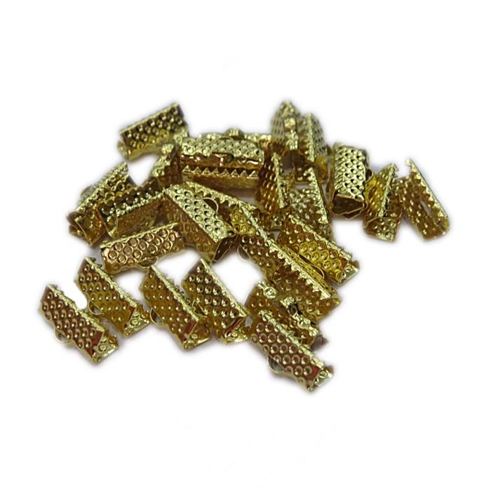 Terminal de garrinha dourado 13mm (500 unid.) -TGD003 ATACADO