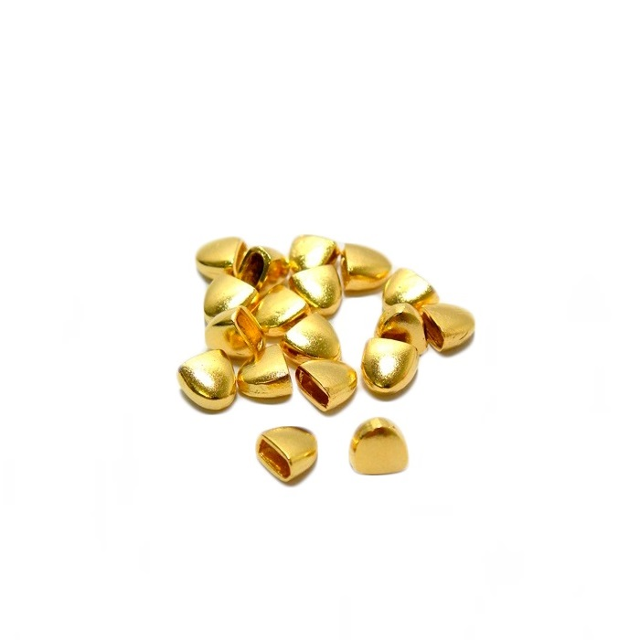 Ponteira de colagem Dourada P (06 unid.)- PCD001
