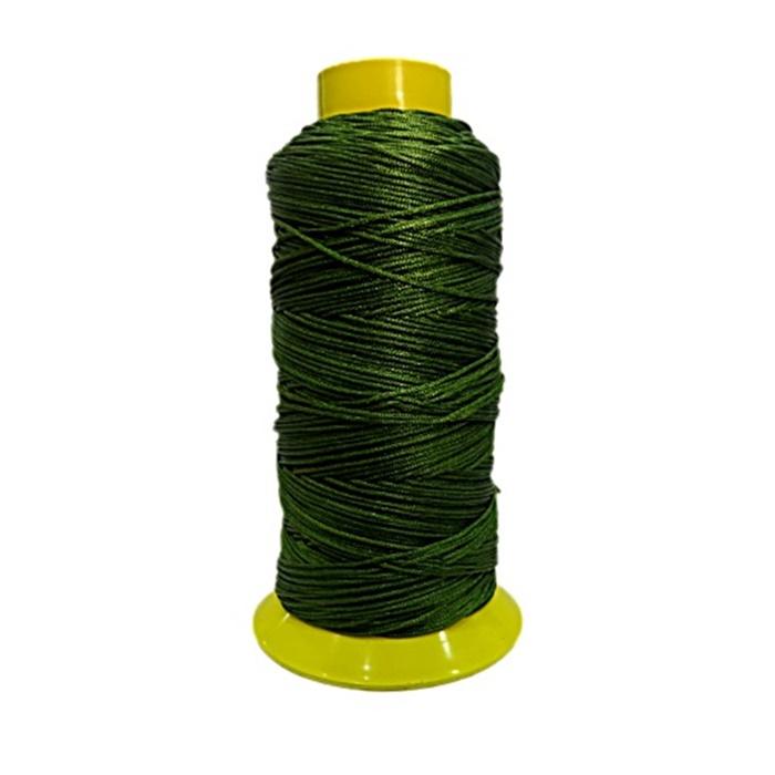 Fio de seda fino verde musgo (10mts)- FS007