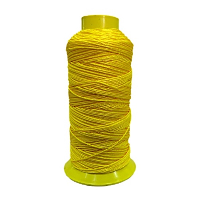 Cordão de seda fino amarelo- FS009 ATACADO