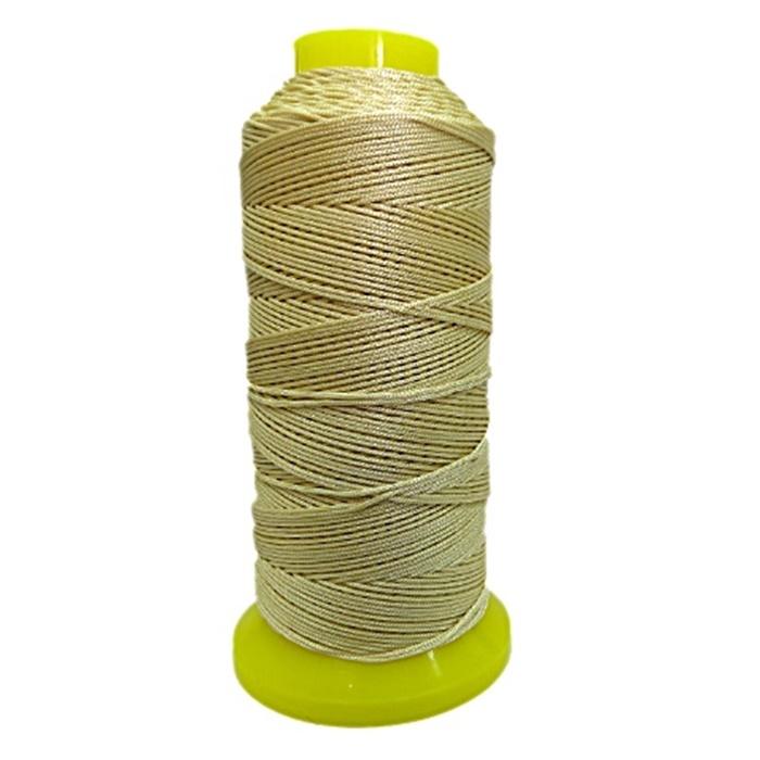Cordão de seda fino bege (10mts)- FS012