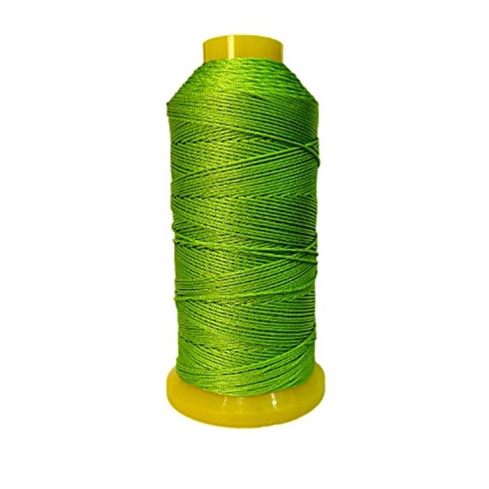Cordão de seda fino verde pistache- FS014 ATACADO