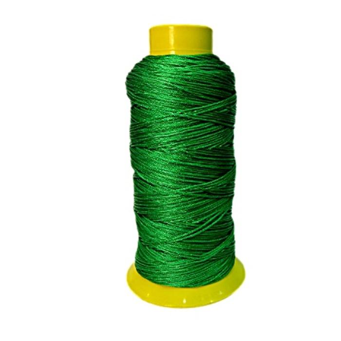 Fio de seda fino verde (10mts)- FS014