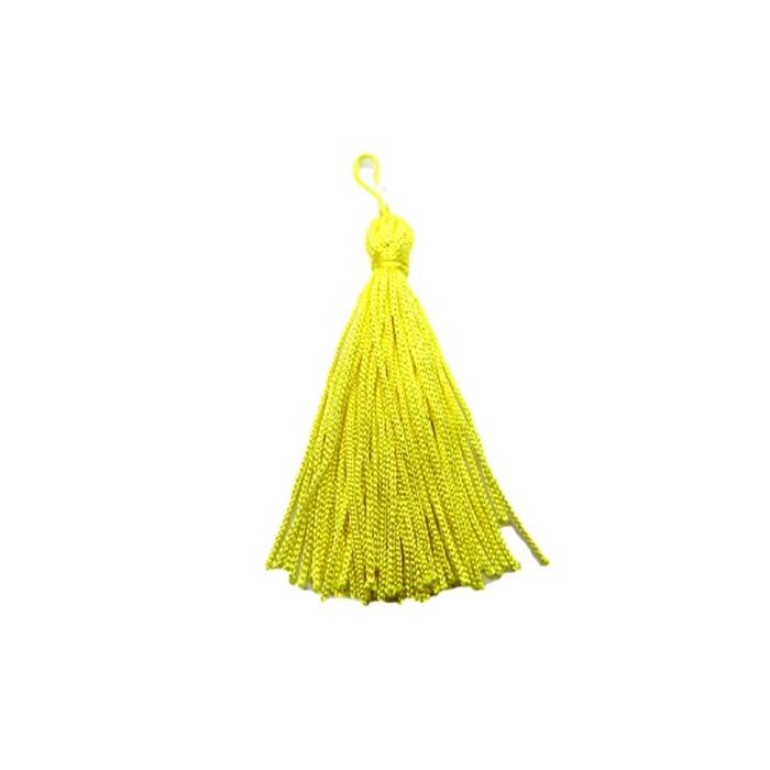 Pingente de seda amarelo (100 unid.)- FRAN002 ATACADO