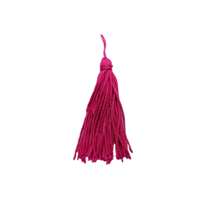 Pingente de seda pink (10 unid.)- FRAN003