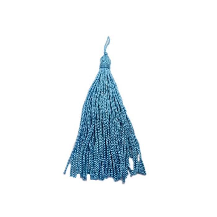 Pingente de seda Azul Bebe (100 unid.)- FRAN007 ATACADO