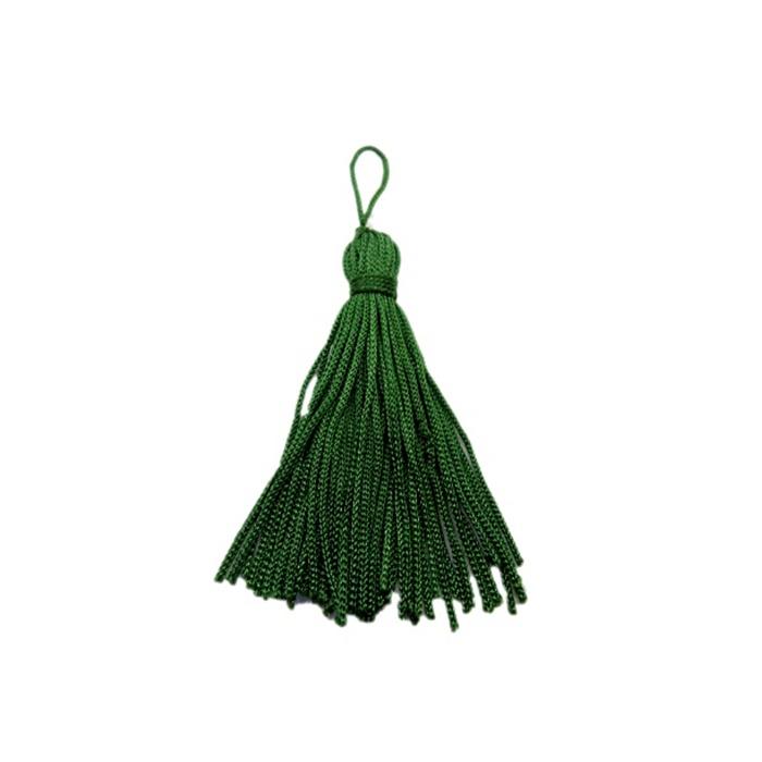 Pingente de seda verde (10 unid.)- FRAN011