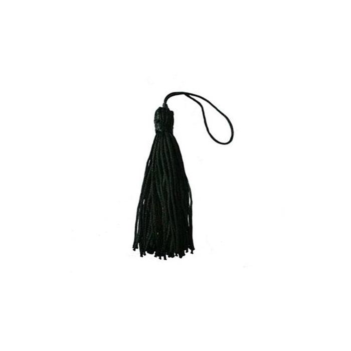 Pingente de seda preto (10 unid.)- FRAN012