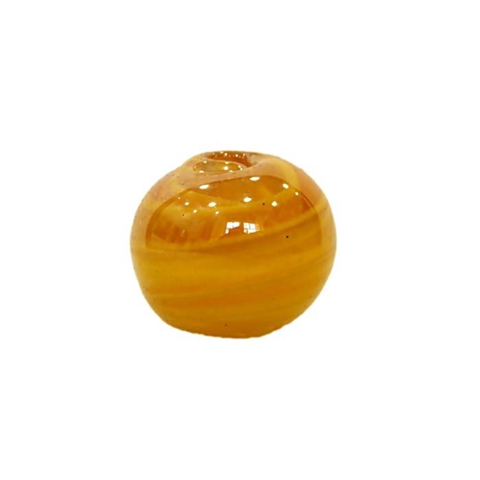Bola de murano GG amarelo gema irisado- MU001